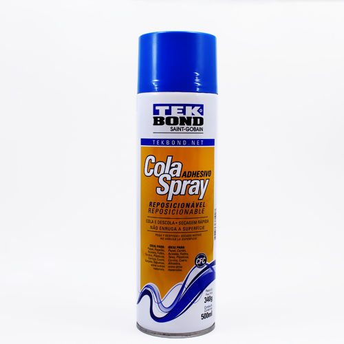 Cola Spray Reposicionável Tekbond - c/500ml